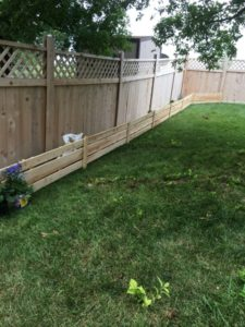The completed fence.